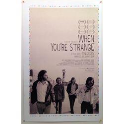 "Rare Original ""The Doors"" Poster Proof ""When You're Strange"" Movie Memorabilia"
