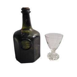 The Hateful Eight Joe Gage (Michael Madsen) Brandy Bottle and Glass Movie Props