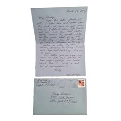 The Upside Phillip (Bryan Cranston) Letter from Lily Movie Props