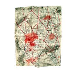 Falling Skies Lt. Demarcus Wolf (Daren A. Herbert) Map Movie Props