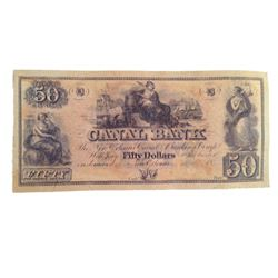 "Django ""Canal Bank"" Note Movie Props"
