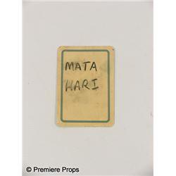 Inglourious Basterds Mata Hari Playing Card Movie Props