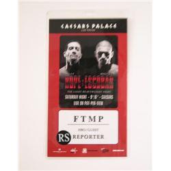 Caesars Palace Reporter Pass Movie Props