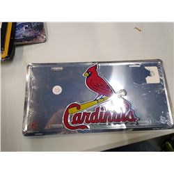 New cardinals license plate