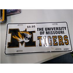 New Mizzou Tigers license plate