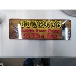 New small Cowboy tin sign
