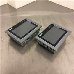 (2) Siemens 1P 6AV2 124-0GC01-0AX0 TP700 Comfort HMI