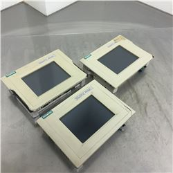 (3) Siemens 1P 6AV6 545-0BC15-2AX0 Touch Panel Color *CRACKED HOUSING SEE PICS FOR DETAILS*