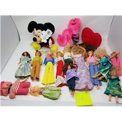LOT OF ASSORTED DOLLS AND STUFFED TOYS