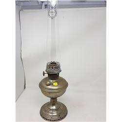 TIN LAMP WITH ALADDIN CHIMNEY