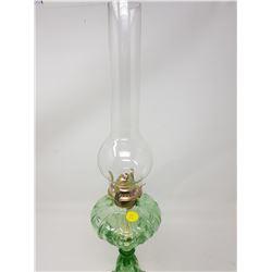GREEN #1 COAL OIL LAMP