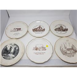 LOT OF DECORATIVE CHURCH PLATES