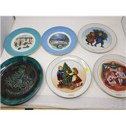 LOT OF 6 COLLECTOR PLATES