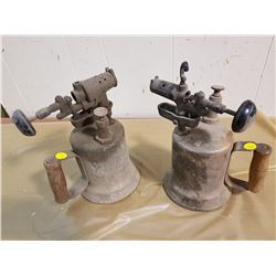 TWO BRASS BLOW TORCHES
