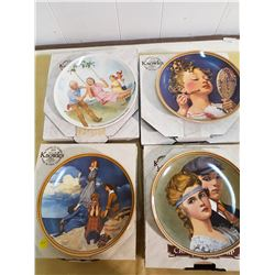 LOT OF 4 DECORATIVE PLATES (3 NORMAN ROCKWELL)