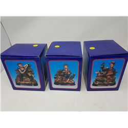 """LOT OF 3 FIGURINES (BOX IS 5.5"""" X 6.5"""")"""