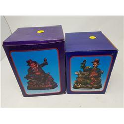 "LOT OF 2 FIGURINES (BOX IS 5.5"" X 6.5""--7.5"" X 5.5"")"