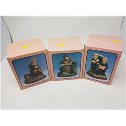 """LOT OF 3 FIGURINES (BOX IS 5.5"""" X 6"""")"""