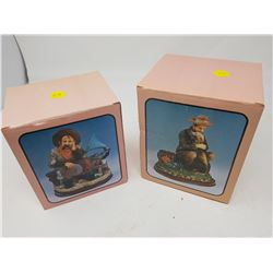 """LOT OF 2 FIGURINES (BOXES ARE 5"""" X 5.5""""--5.5"""" X 6"""")"""