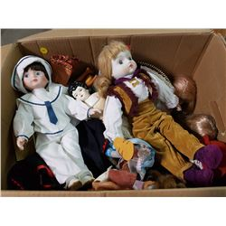 LOT OF ASSORTED BARBIES AND DOLLS