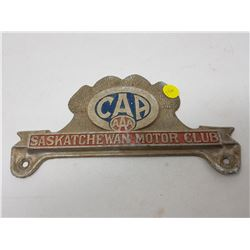 CAA LICENSE PLATE TOPPER