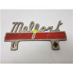 MELFORT LICENSE PLATE TOPPER