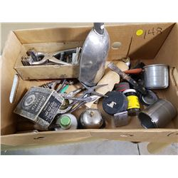 LOT OF ASSORTED COLLECTIBLES (STOVE LIFTERS, TOOLS, LIGHTER, ETC.)