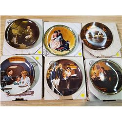 LOT OF 6 NORMAN ROCKWELL PLATES