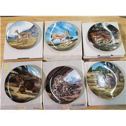 LOT OF 6 DECORATIVE PLATES (W. NELSON)