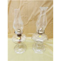 TWO #2 COAL OIL LAMPS