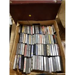 LOT OF CASSETTES AND CASE