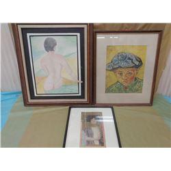 THREE PICTURES (BOY, WOMAN, ETC.)