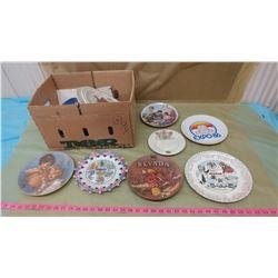 BOX OF PLATES (ROYALTY, CHURCH, ETC.)