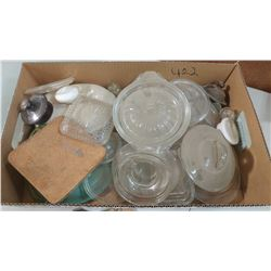 LOT OF HARD TO FIND GLASS LIDS