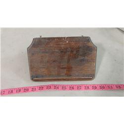 LONG BOX OAK TELEPHONE SHELF