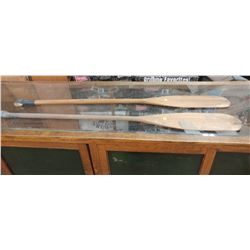 """TWO OARS 54"""" LONG (SOME LIGHT DAMAGE ON BOTH)"""