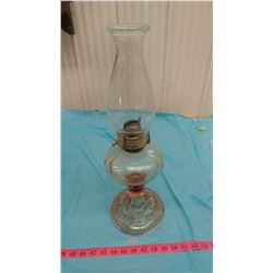 PINK DEPRESSION COAL OIL LAMP