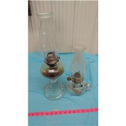#2 COAL OIL LAMP AND FINGER LAMP