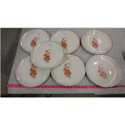 "SEVEN 10"" PLATES WITH TIGERLILIES (MELFORT)"
