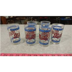 LOT OF 6 PEPSI GLASSES