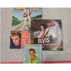 FOUR ELVIS RECORDS
