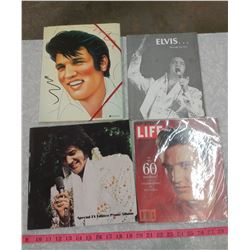 LOT OF ELVIS COLLECTIBLES-MAGAZINES, CALENDAR, ETC.