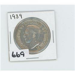 1939 - CANADIAN SILVER DOLLAR