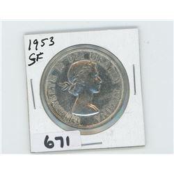 1953 - CANADIAN SILVER DOLLAR