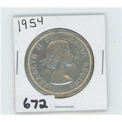 1954 - CANADIAN SILVER DOLLAR