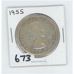 1955 - CANADIAN SILVER DOLLAR