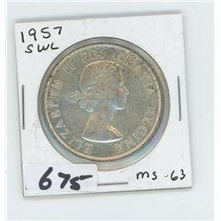 1957 - CANADIAN SILVER DOLLAR