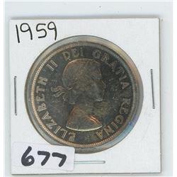 1959 - CANADIAN SILVER DOLLAR