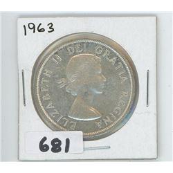 1963 - CANADIAN SILVER DOLLAR