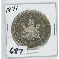 1971- CANADIAN SILVER DOLLAR